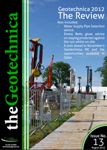 thegeotechnica August 2012 cover