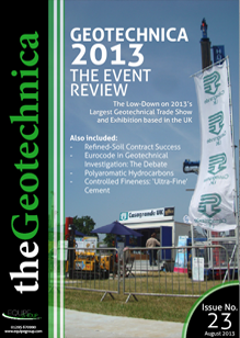 theGeotechnica August 2013 cover