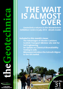 theGeotechnica June 2014 cover
