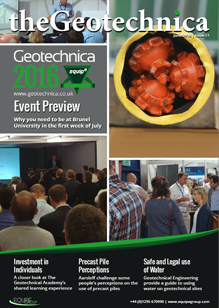 theGeotechnica June 2016 cover