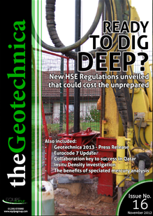 theGeotechnica November 2012 cover