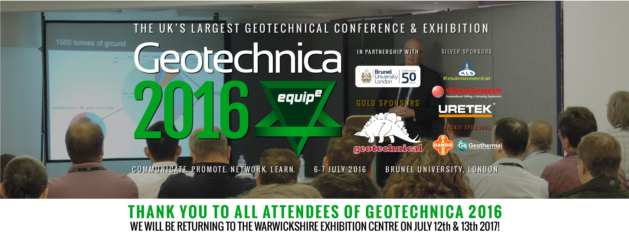 Geotechnica 2016 - The UK's Largest Geotechnical Conference and Exhibtiion