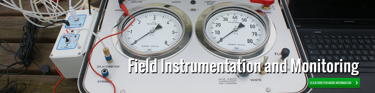 Field Instrumentation and Monitoring - Click for more information.