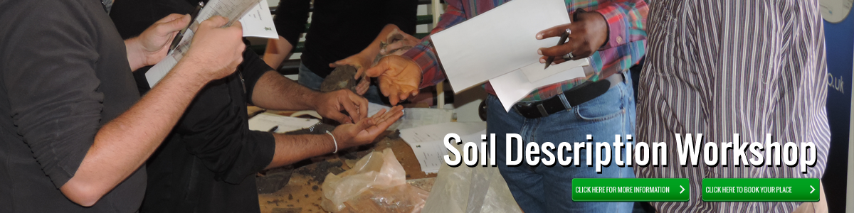 Soil Description Workshop - Click for more information.
