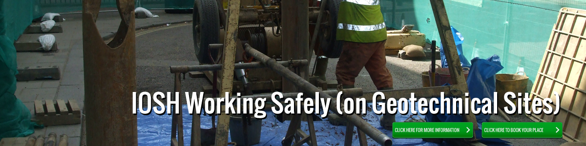 IOSH working safely on geotechnical sites image