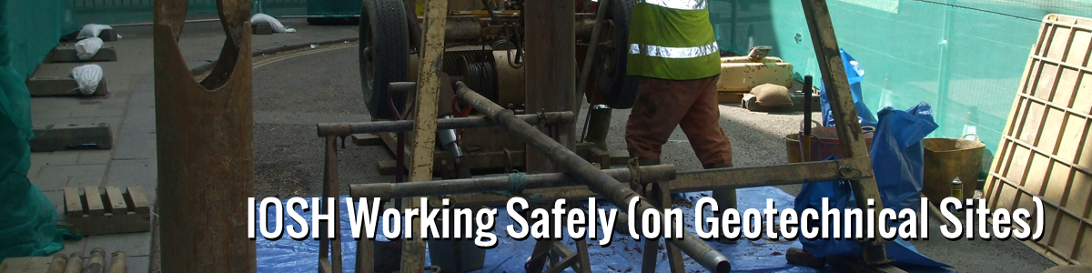 IOSH Working Safely (on Geotechnical Sites) image