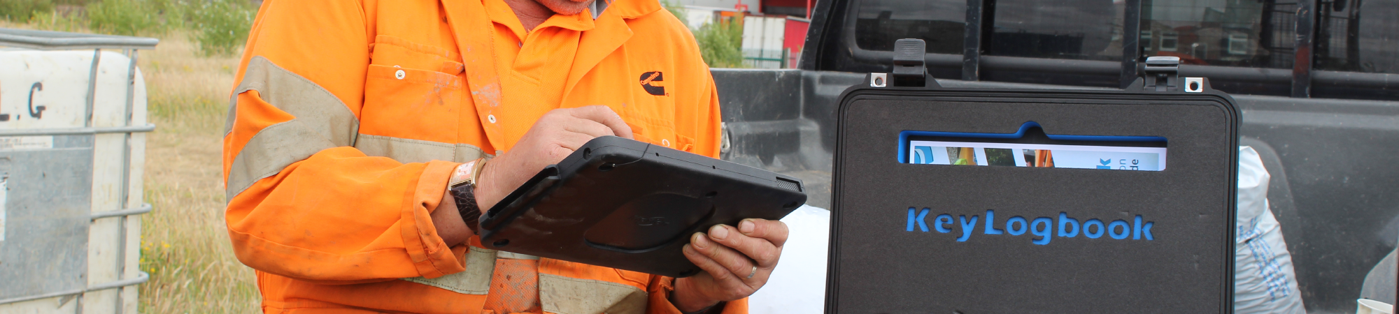 KeyLogbook in use on site