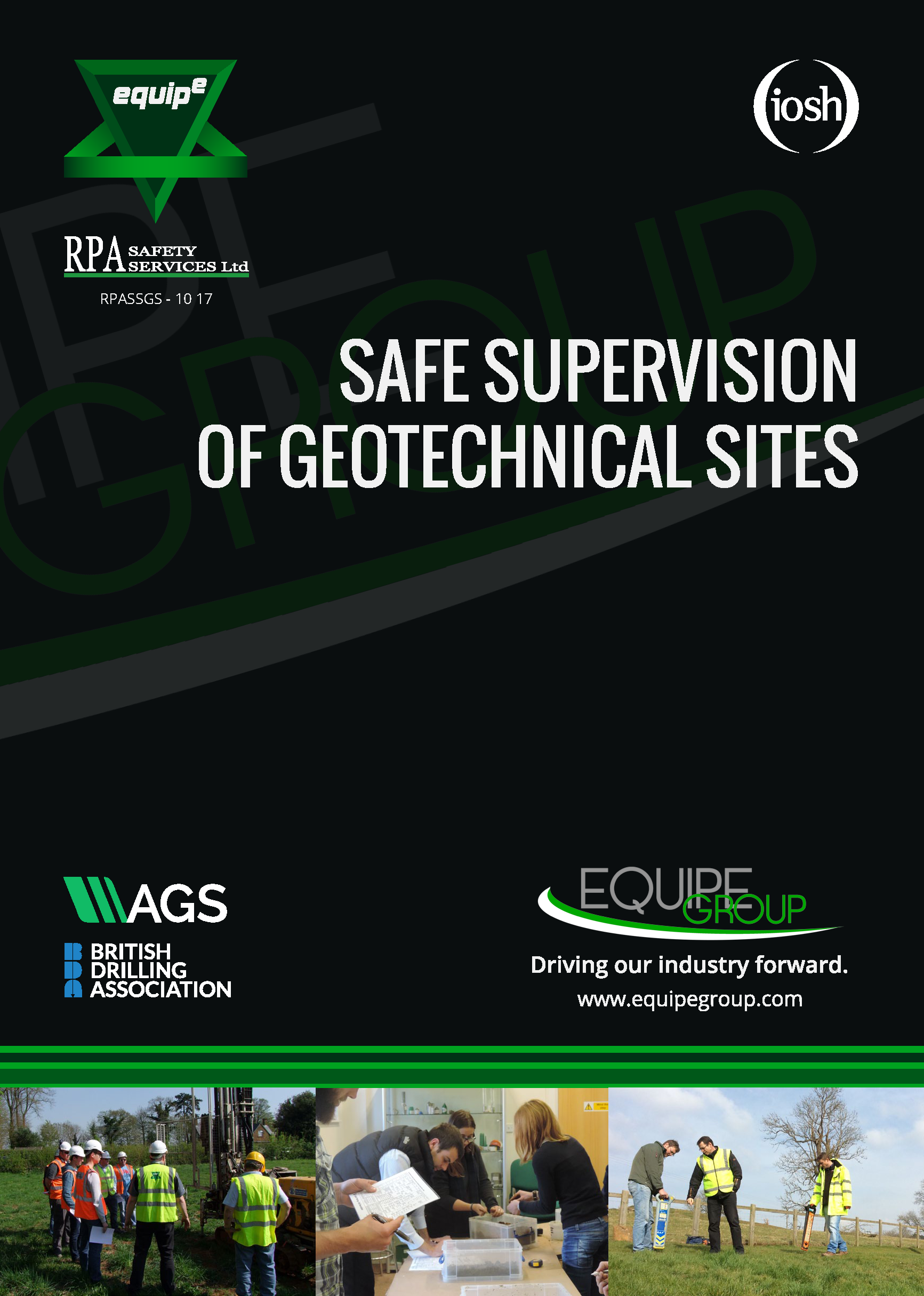IOSH Safe Supervision of Geotechnical Sites Course Booklet